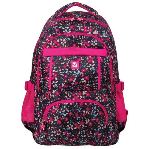 BRAUBERG рюкзак Цветы (226357), черный/розовый рюкзак brauberg 227073