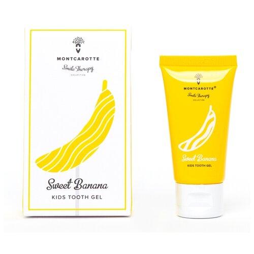Купить Зубной гель Montcarotte Sweet Banana Kids Tooth Gel 0+, 30 мл, Гигиена полости рта