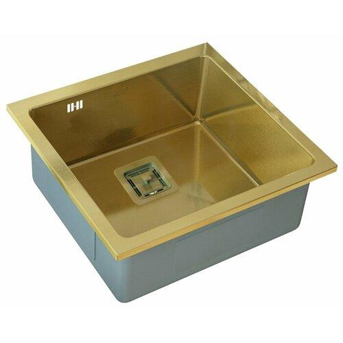 Фото - Врезная кухонная мойка 44 см ZorG PVD SZR-44 BRONZE бронза врезная кухонная мойка 78 см zorg szr 78 2 51 r bronze бронза