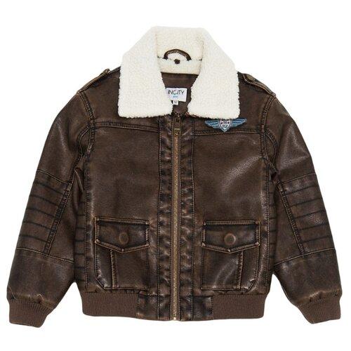 Купить Куртка INCITY размер 134, коричневый, Куртки и пуховики