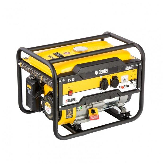 Бензиновый генератор Denzel PS 33 (3000 Вт)