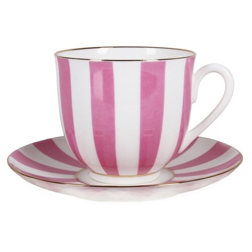 Императорский фарфоровый завод Кофейная пара Да и нет, форма Ландыш 180 мл белый/розовый по цене 1 250