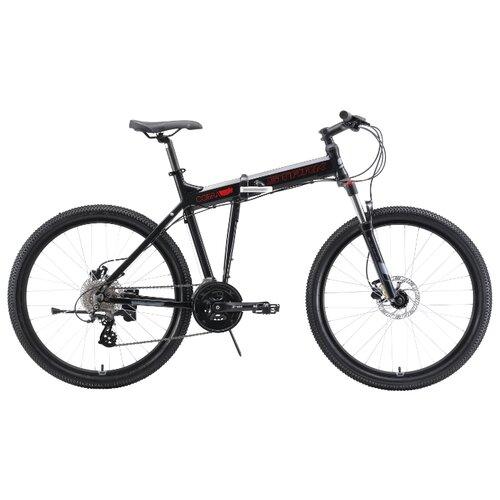 Горный (MTB) велосипед STARK Cobra 26.3 HD (2019) черный/красный/серый 20 (требует финальной сборки)