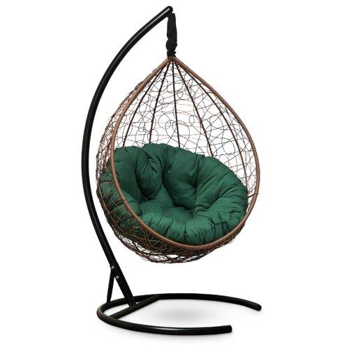 Подвесное кресло-кокон Laura Outdoor Sevilla Verde, горячий шоколад/зеленый