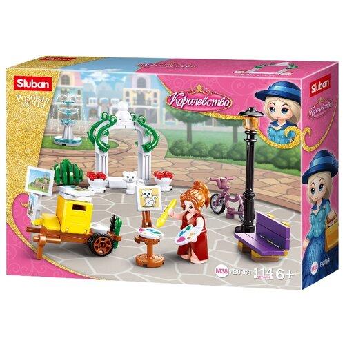 Купить Конструктор SLUBAN Розовая мечта M38-B0869 Парк, Конструкторы