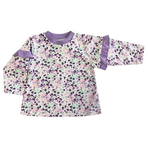 Лонгслив KotMarKot размер 68, белый/фиолетовый свитшот kotmarkot размер 68 серый фиолетовый