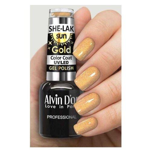 Купить Гель-лак для ногтей Alvin D'or She-Lak Sun Gold, 8 мл, оттенок 6413