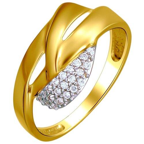 Эстет Кольцо с 21 фианитом из жёлтого золота 01К1312586Р, размер 16.5 ЭСТЕТ
