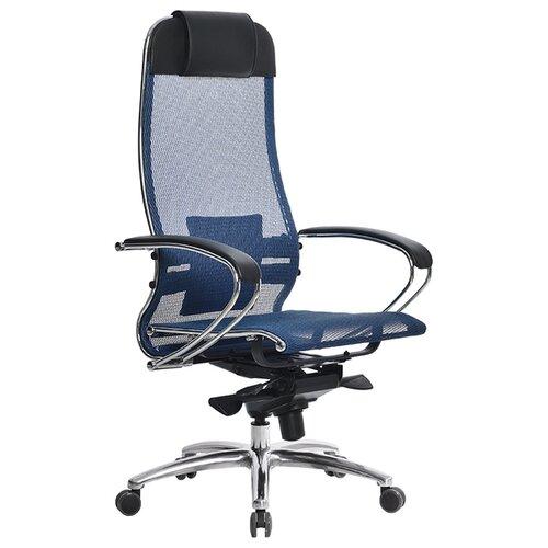 Компьютерное кресло Метта SAMURAI S-1 офисное, обивка: текстиль, цвет: синий компьютерное кресло метта bp 2 pl офисное обивка натуральная кожа цвет 721 черный
