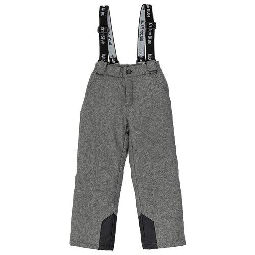 Купить Брюки Button Blue размер 122, серый, Полукомбинезоны и брюки