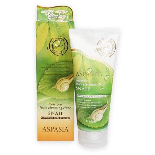 Купить Aspasia пенка для умывания с муцином улитки Snail Moisture Foam Cleansing Clear, 180 мл