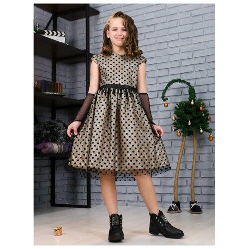 Купить Платье Khmeleva размер 140, золотой, Платья и сарафаны