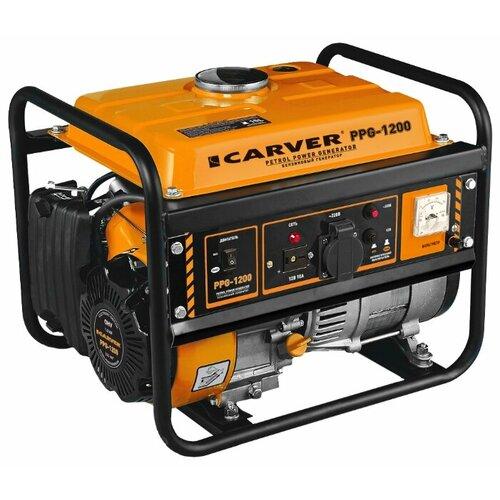 Бензиновый генератор Carver PPG-1200 (900 Вт)