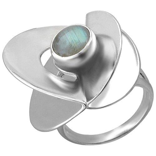 Эстет Кольцо с лабрадоритами из серебра К3К453562, размер 19.5 фото