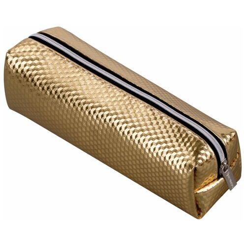 Купить BRAUBERG Пенал-косметичка Celebrity глянцевый gold, Пеналы