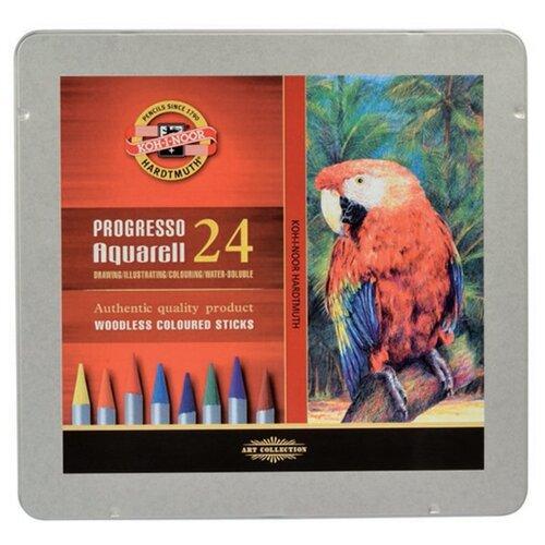 Купить KOH-I-NOOR Карандаши акварельные Progresso, 24 цвета (8784024001PL), Цветные карандаши