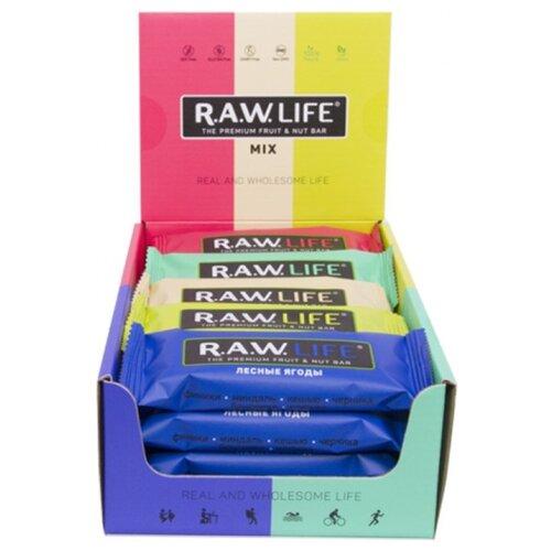 Фруктовый батончик R.A.W. Life без сахара Mix Fresh, 20 шт