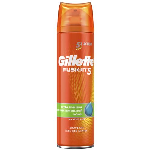 Гель для бритья Fusion 5 для чувствительной кожи Gillette, 200 мл гель для бритья series увлажняющий gillette 200 мл