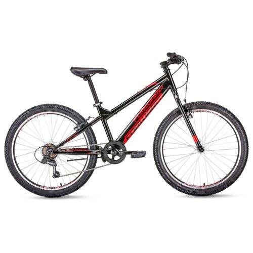 Подростковый горный (MTB) велосипед FORWARD Titan 24 1.0 (2020) черный 13 (требует финальной сборки) подростковый горный mtb велосипед forward dakota 24 1 0 2020 черный 13 требует финальной сборки