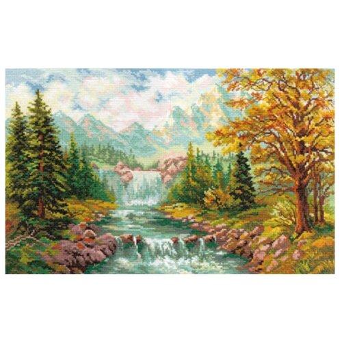 Фото - Алиса Набор для вышивания крестиком Горный водопад 41 х 26 см (3-09) картина модульная картиномания водопад 90 х 57 см