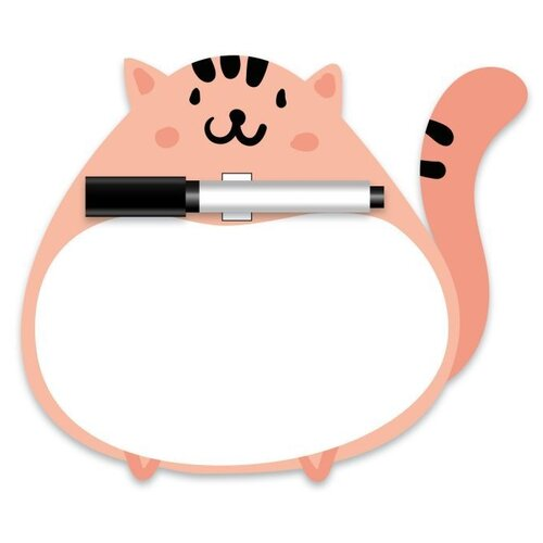 Купить Доска для рисования детская Феникс+ Кот (47877) розовый, Доски и мольберты