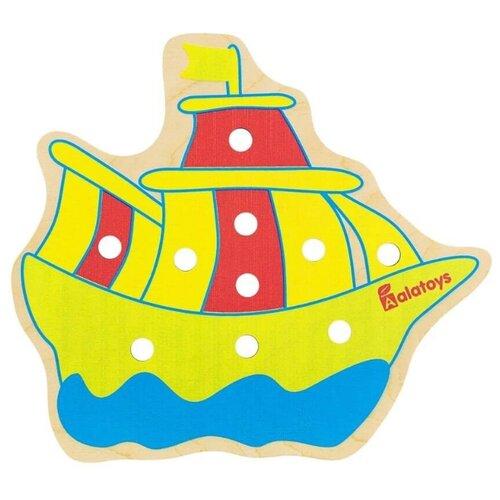 Шнуровка Alatoys Фрегат (ШН29) желтый/красный/голубой кольцеброс польская пластмасса pl78003 голубой красный желтый