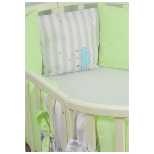 Фото - Бортики-подушки в кроватку для новорожденных Серебряная нить, 12 штук бортики в кроватку сонный гномик серебряная нить