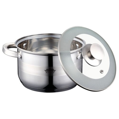 Кастрюля Peterhof PH-15859-18s 2,9 л, стальной кастрюля peterhof ph 15859 20s 3 9 л стальной