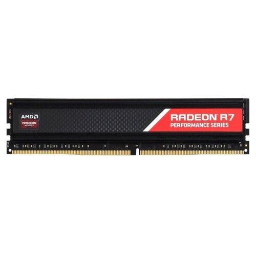 Оперативная память AMD Radeon R7 Performance DDR4 2400 (PC 19200) DIMM 288 pin, 8 ГБ 1 шт. 1.2 В, CL 16, R748G2400U2S-U