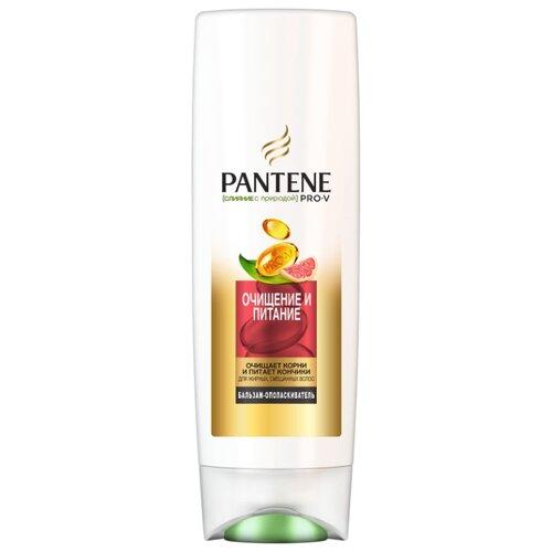Pantene бальзам-ополаскиватель Слияние с природой Очищение и питание для жирных, смешанных волос, 360 мл недорого