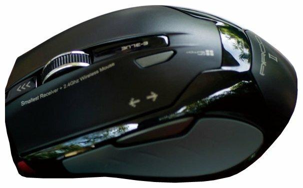 Мышь e-blue Acro2 2.4GHz Wireless mini optical mouse EMS100BK Black USB