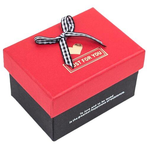 Коробка подарочная Yiwu Zhousima Crafts прямоугольная с бантом 10 х 6.5 х 7.5 см красный/черный