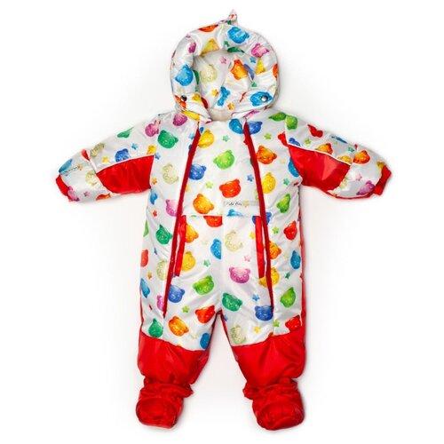 Фото - Комбинезон-трансформер MaLeK BaBy 145шм размер 68, Мишки-мармеладки + красный комбинезон malek baby malek baby