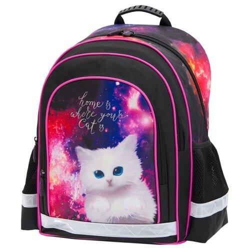 Купить Berlingo рюкзак inStyle+ Кот в космосе, черный, Рюкзаки, ранцы