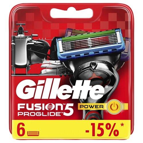 Сменные кассеты Gillette Fusion5 ProGlide Power, 6 шт. бритва proglide power 1 кас gillette