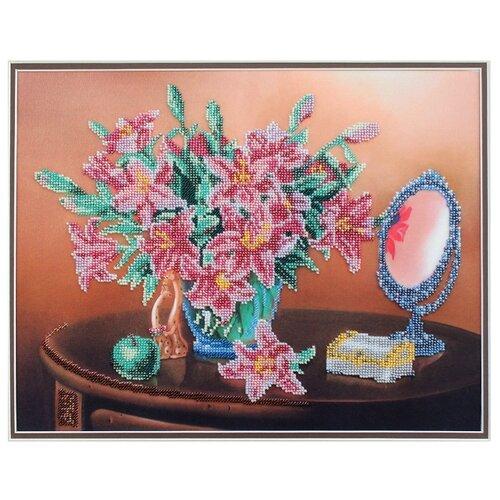 Купить Hobby & Pro Набор для вышивания бисером Лилии в натюрморте 28 х 35 см (БН-3136), Наборы для вышивания
