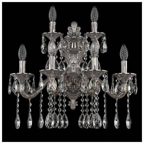 Настенный светильник Bohemia Ivele Crystal 7102B16/4+2/210 A Ni, 240 Вт светильник bohemia ivele crystal 7710 22 1 ni e27 40 вт