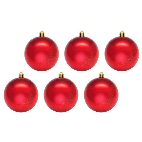 Набор шаров SNOWMEN Е50334, красный, 6 шт. набор шаров snowmen ек0509 золотой 6 шт