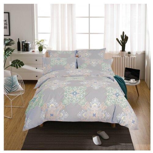 Постельное белье 2-спальное СайлиД A-190, поплин серый постельное белье сирень постельное белье 2 спальное кпб сайлид