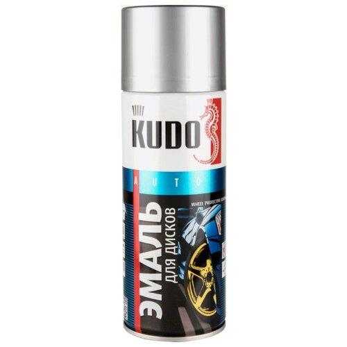 KUDO аэрозольная Эмаль для дисков 520 мл алюминий