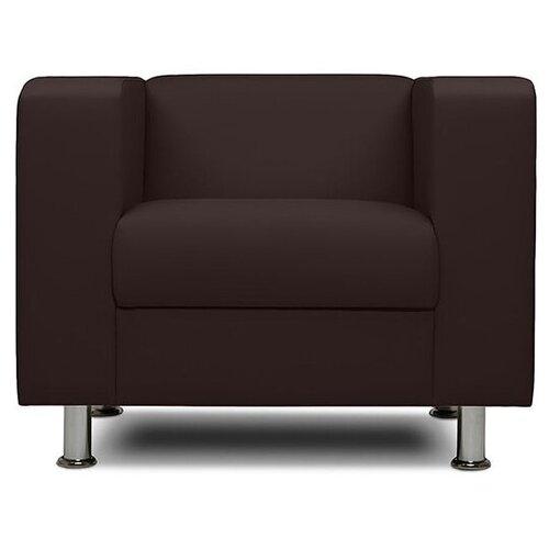 Классическое кресло Шарм-Дизайн Бит размер: 88х75 см, обивка: искусственная кожа, цвет: коричневый