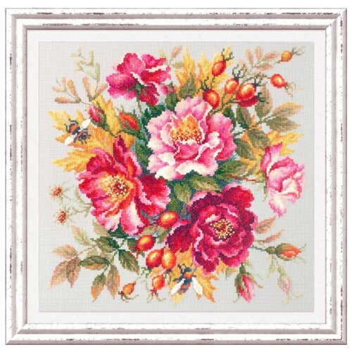 Купить Набор для вышивания Чудесная Игла 140-002 Магия цветов.Шиповник 30х30см, Наборы для вышивания