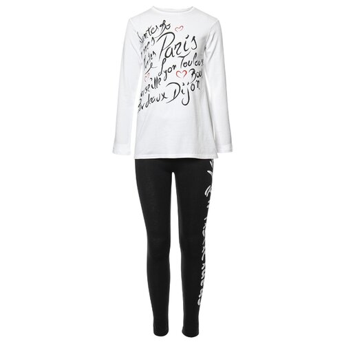 Купить Комплект одежды M&D размер 122, белый/черный, Комплекты и форма