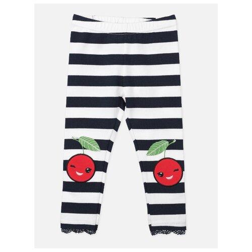 Купить Легинсы playToday Cherry Story Spring 120322036 размер 74, темно-синий/белый, Брюки и шорты