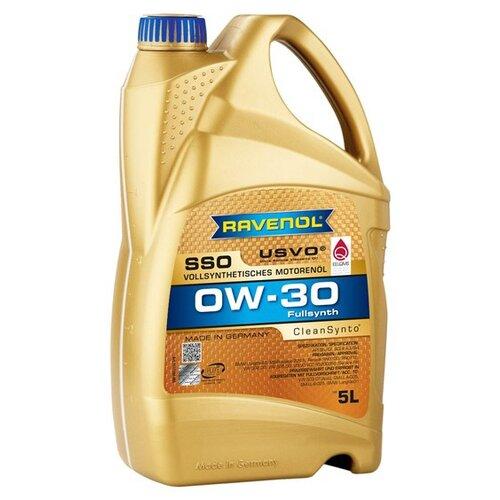 Синтетическое моторное масло Ravenol Super Synthetic SSO SAE 0W-30 5 л моторное масло ravenol super synthetik öl ssl sae 0w 40 5 л