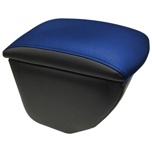 Подлокотник передний Skoda Roomster (2007-) экокожа Чёрно-синий подлокотник передний honda jazz 2001 экокожа чёрно синий