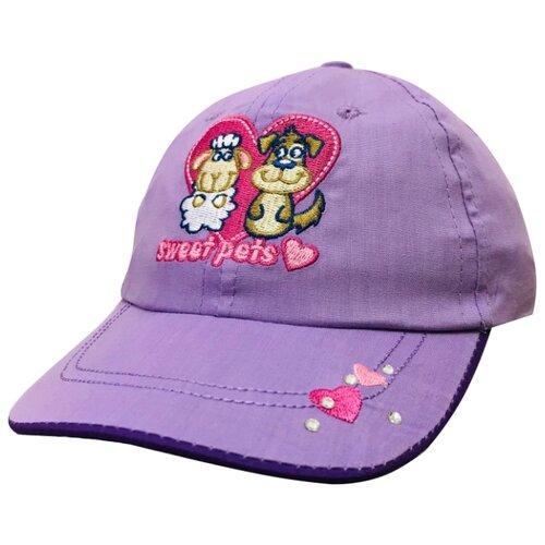 Купить Бейсболка Be Snazzy размер 48, фиолетовый, Головные уборы