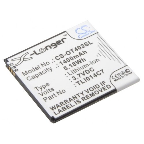 Аккумулятор Cameron Sino CS-OT402SL для Alcatel One Touch Pixi First (4024D, 4024X) недорого