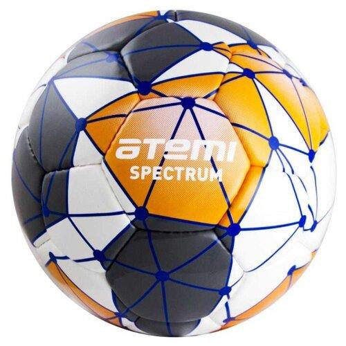 Футбольный мяч ATEMI SPECTRUM Leisure 00-00000414 белый/серый/оранжевый 5