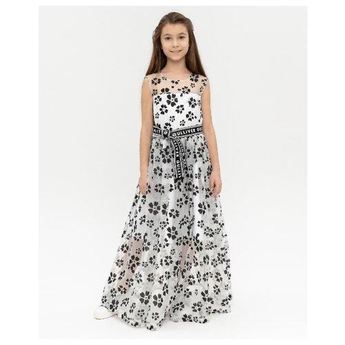Платье Gulliver размер 164, белый платье oodji ultra цвет красный белый 14001071 13 46148 4512s размер xs 42 170